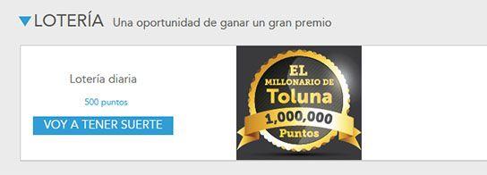 Participa en la loteria de Toluna y gana un gran premio